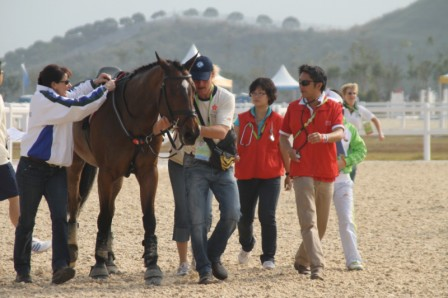 AsianGamesDBoxVetCheckEventing2010